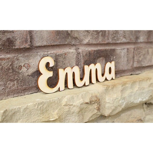 Laser-Cut Personalized Wood Name Signs