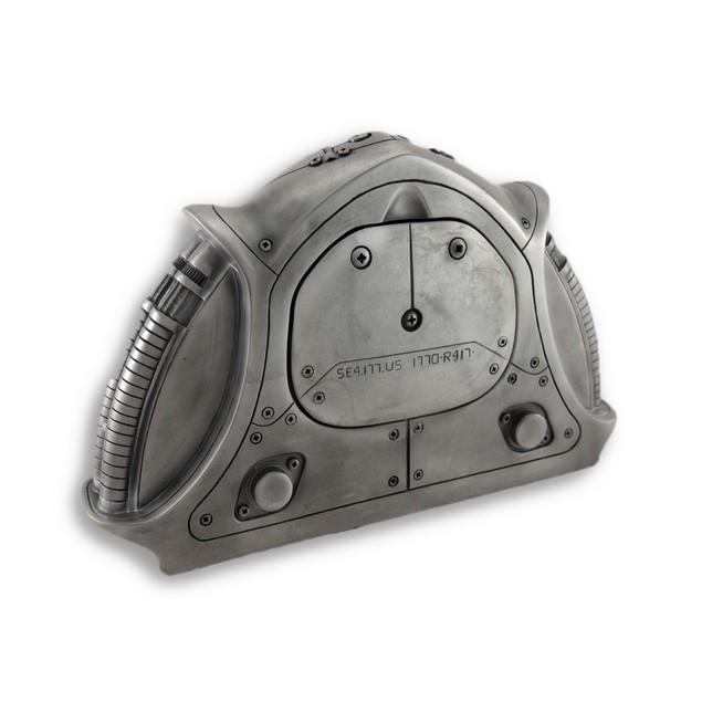 Industrial Metallic Techno Shelf Clock 11 X 7.25 Shelf Clocks
