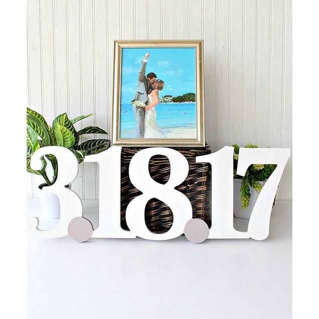 Custom Wooden Date Cutout