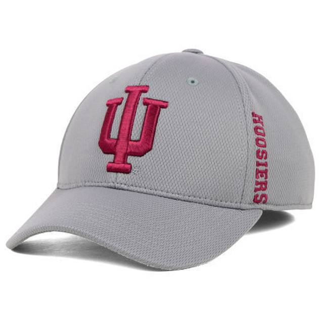 """Indiana Hoosiers NCAA TOW Gray """"Booster"""" Memory Fitted Hat"""