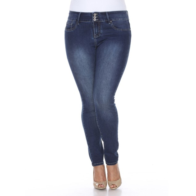 White Mark Plus Size Super Stretch Denim Jeans