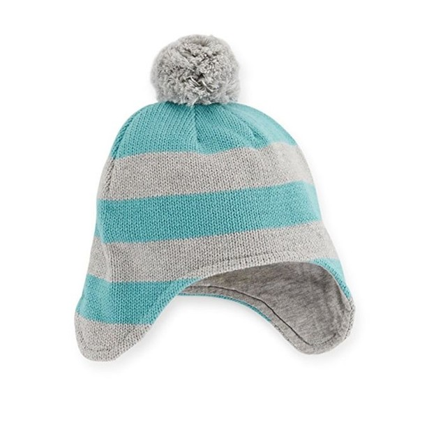 Carter's Baby Boys Striped Trapper Hat (0-3 Months)