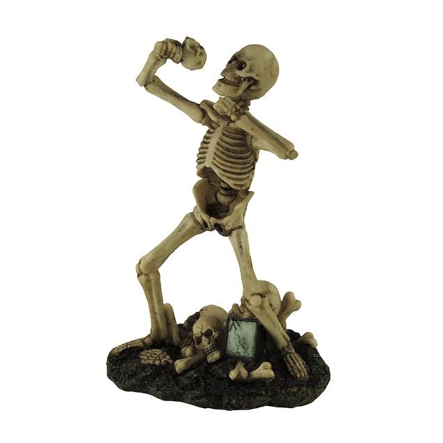 Heavy Metal Vocalist Skeleton Singer Statue Statues
