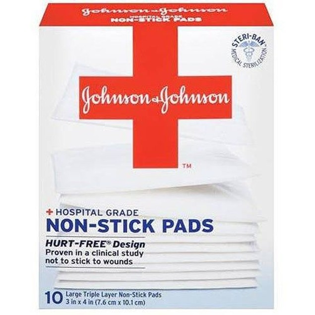 Johnson & Johnson Hospital Non-Stick Pads 2 in x 3 in