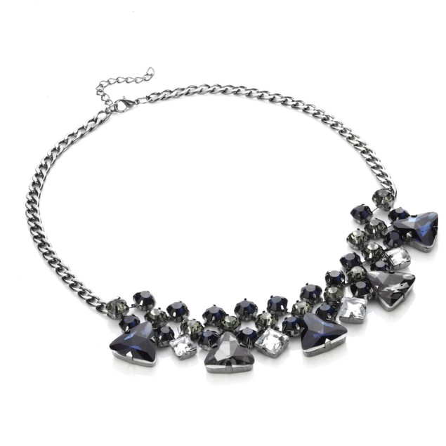 Estate Sparkling Sapphire Gems Statement Necklace