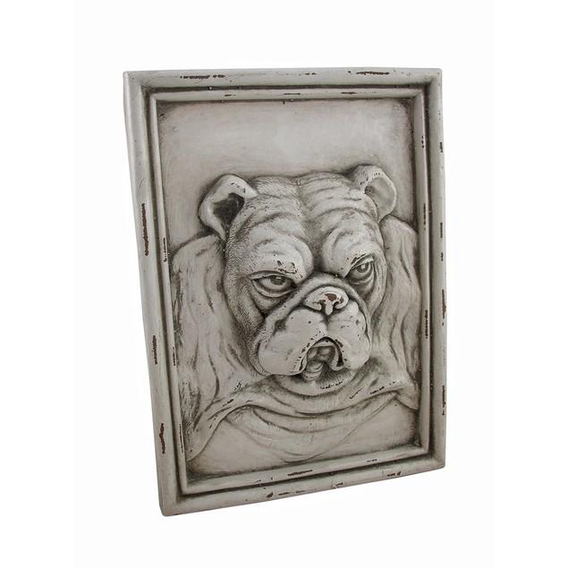 White Bulldog Resin Wall Plaque Decorative Plaques