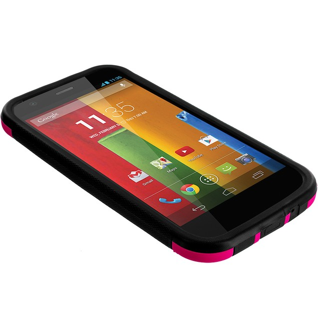 Motorola Moto G Hybrid Hard TPU Case Cover with Screen Protector