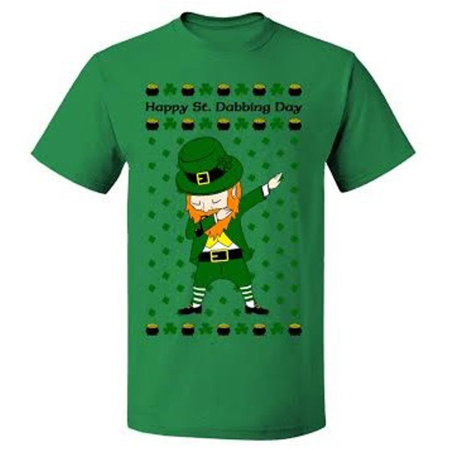 """Dabbing Leprechaun Short Sleeve T-Shirt """"Happy St. Dabbing Day"""""""