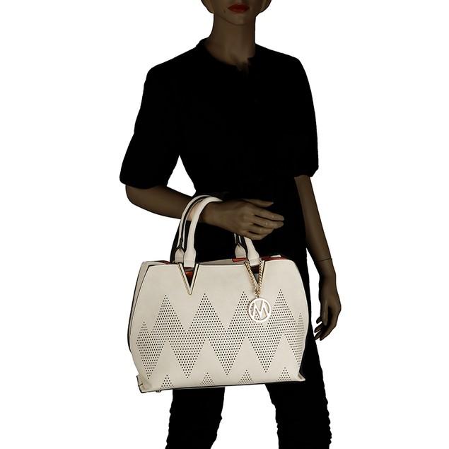 MKF Collection Mercy 2 in 1 Tote and Crossbody Handbag by Mia K. Farrow