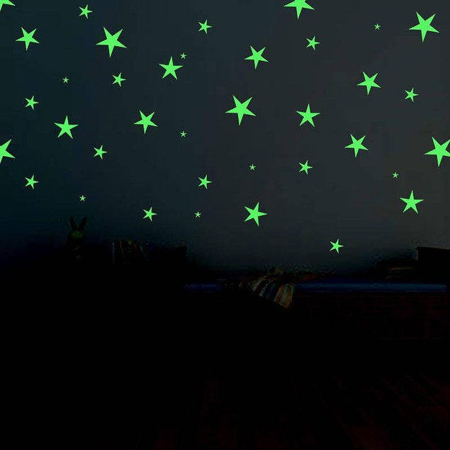 12-Count Stick On Glow In The Dark Stars