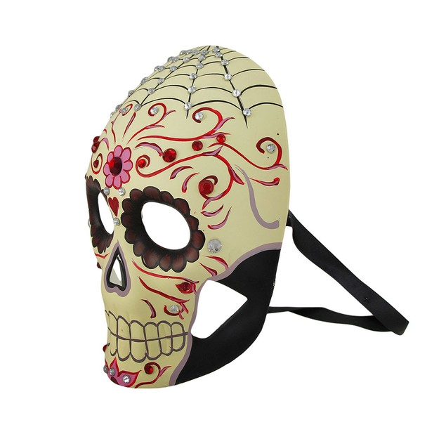 Jeweled Day Of The Dead Skull Fantasy Masquerade Mens Costume Masks