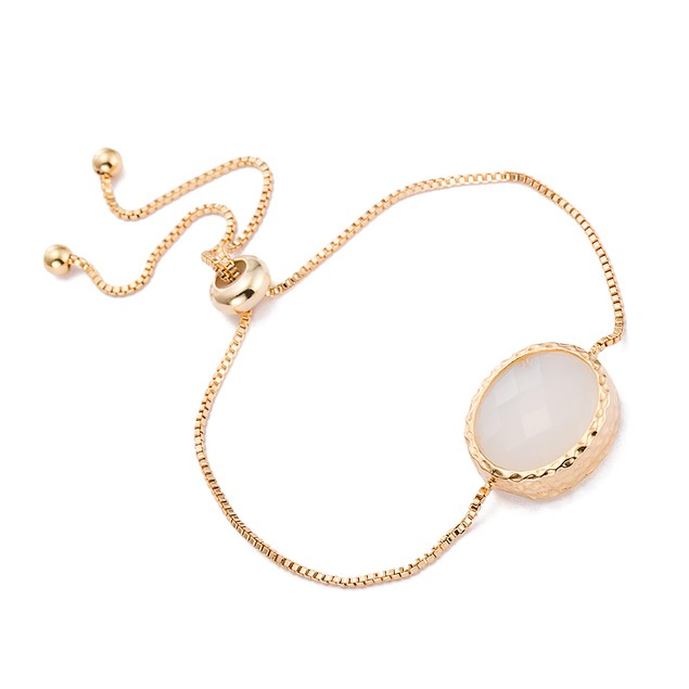 Gold Plated Circular Classic Crystal Gem Bracelet