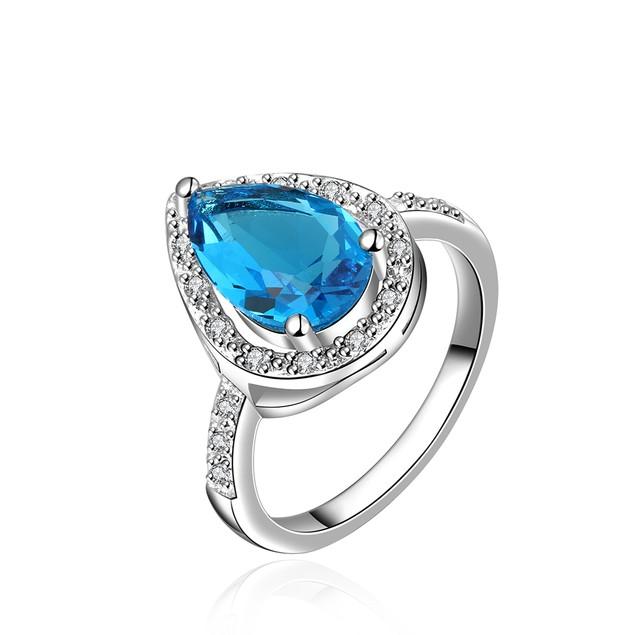 Imitation Sapphire Triangular Shaped Ring