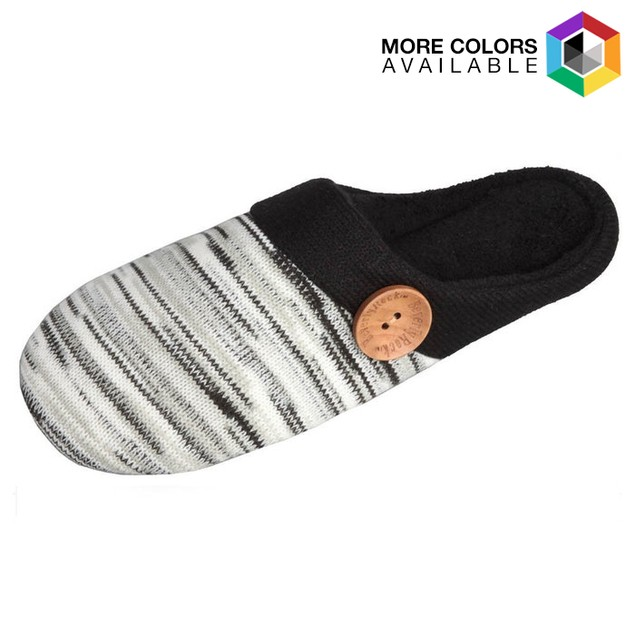 Beverly Rock Women's Striped Embroidery Clog Slipper