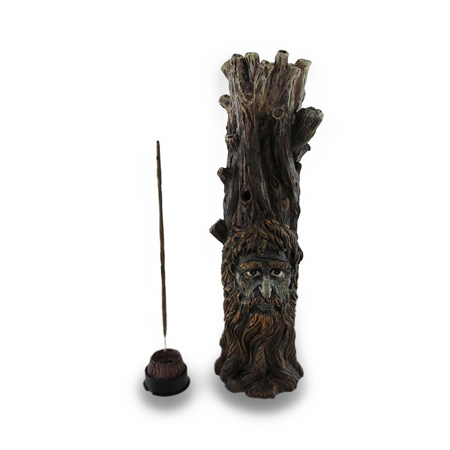 Tree Of Wisdom Incense Tower Green Man And Green Incense Holders