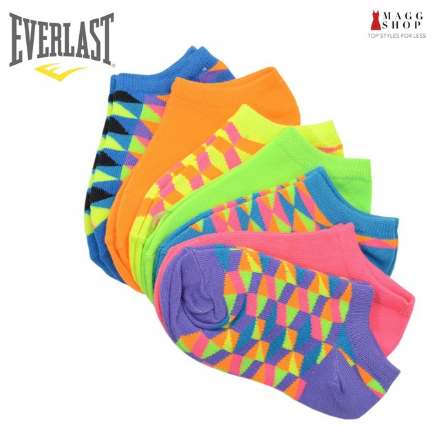 Everlast Womens No Show Athletic Ankle Socks 14 Pack