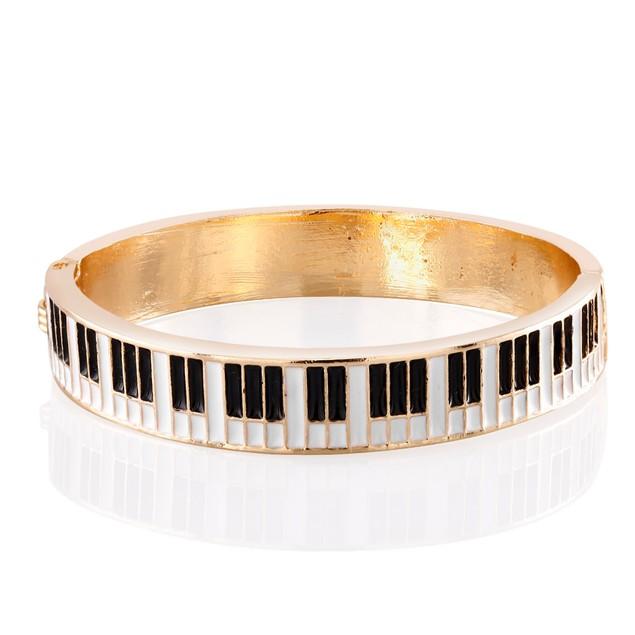 Kids Gold Plated Piano Enamel Bangle