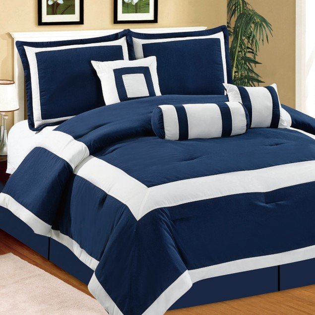 7 Piece Set: Hotel Collection Comforter Set- Assorted Styles