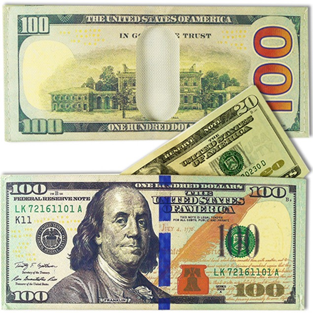 100 Dollar Bill Billfolds Wallets