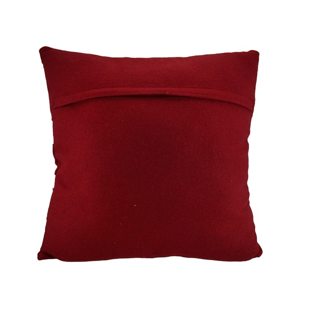 Red / Silver Christmas Ornaments Throw Pillow 18 Throw Pillows