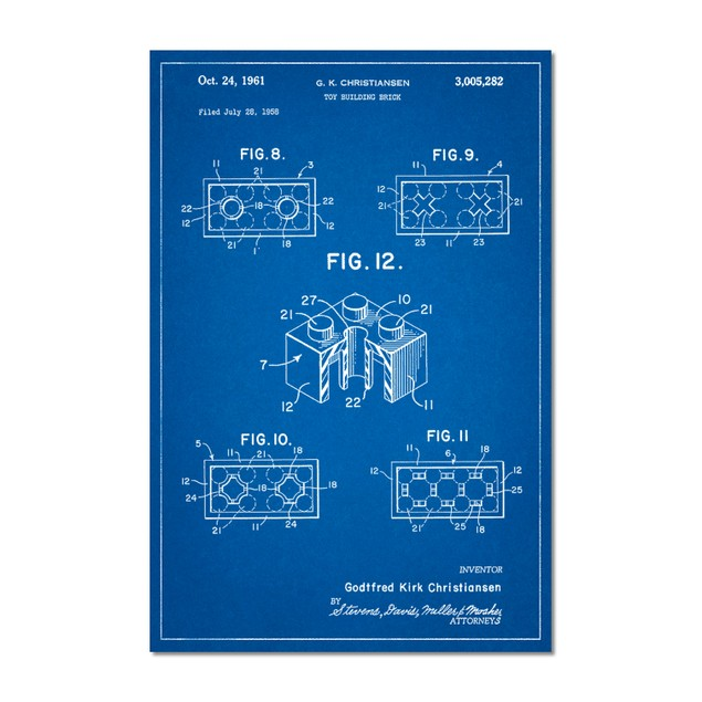 Lego Building Brick Patent Poster