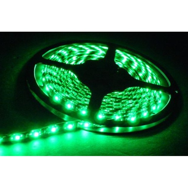 Zone Tech Waterproof Green 3528 SMD 300 LED 5M Flexible Light Strip Car 12V