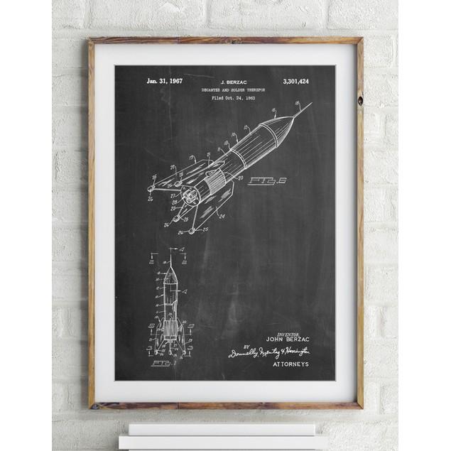 Rocket Ship Concept 1963 Patent Poster