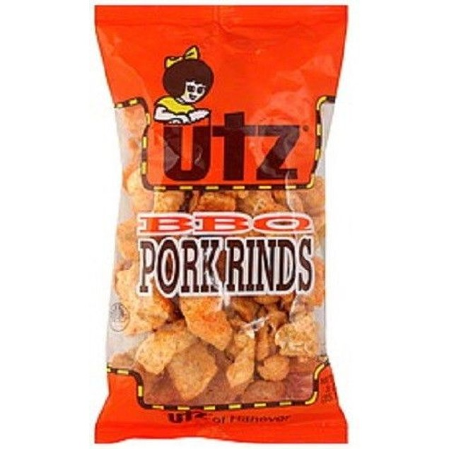 Utz BBQ Pork Rind 3oz Bag