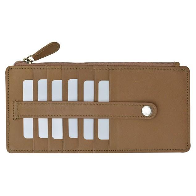 AFONiE Slim Genuine Leather Credit Card Wallet Unisex