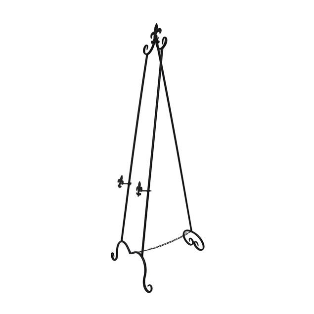 65 Inch Fleur De Lis Design Metal Display Easel Easels