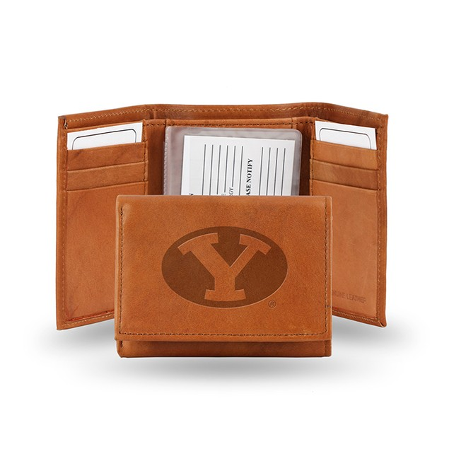 BYU Leather Manmade Trifold