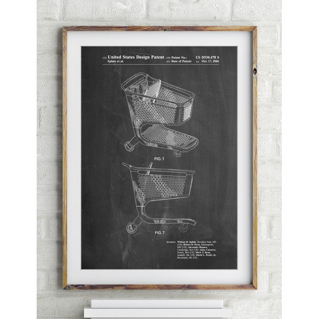 Shopping Cart Patent Poster