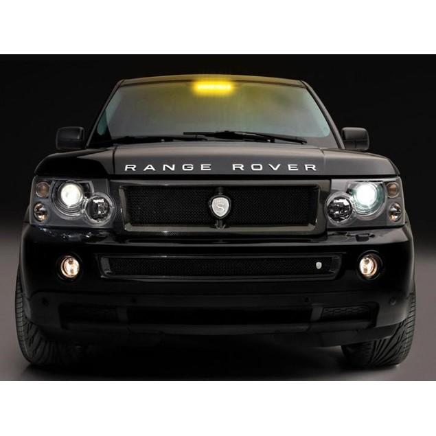 Zone Tech 8 LED Visor Dashboard Emergency Car Warning Strobe Light Amber
