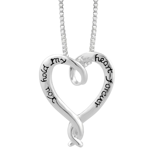 You Hold My Heart Forever Heart Necklace