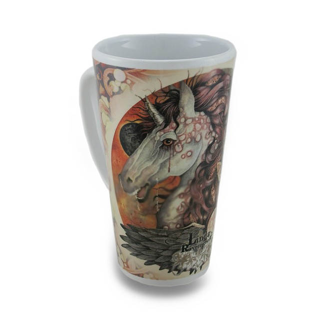 Linda Ravenscroft Grey Lady Design Tall Ceramic Novelty Coffee Mugs