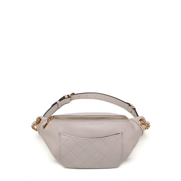 Quilted Chain Link Belt Waist Bag