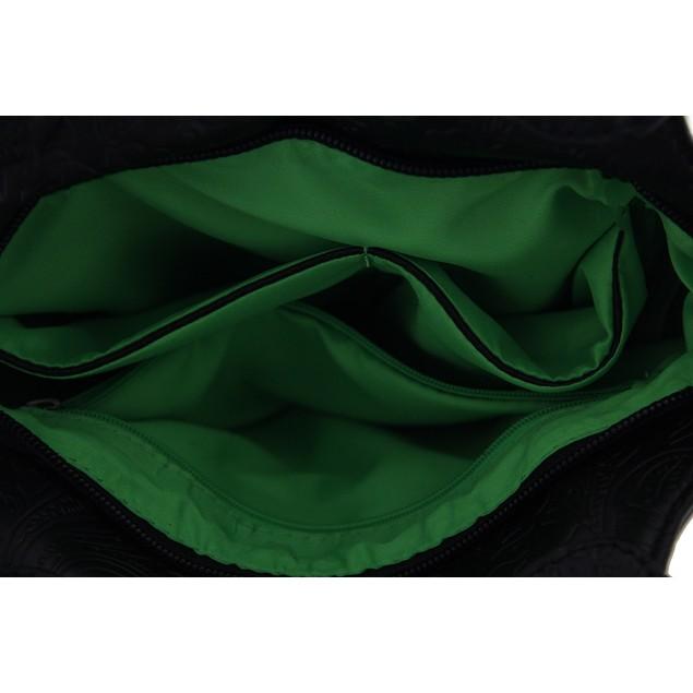 Floral Embossed Long Fringe Studded Shoulder Bag Womens Shoulder Handbags
