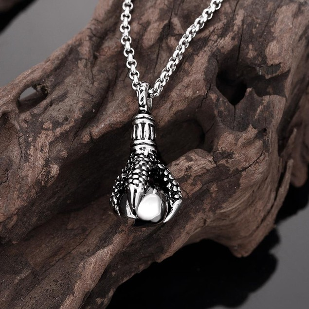 Alpha Steel Thick Emblem Stainless Steel Necklace