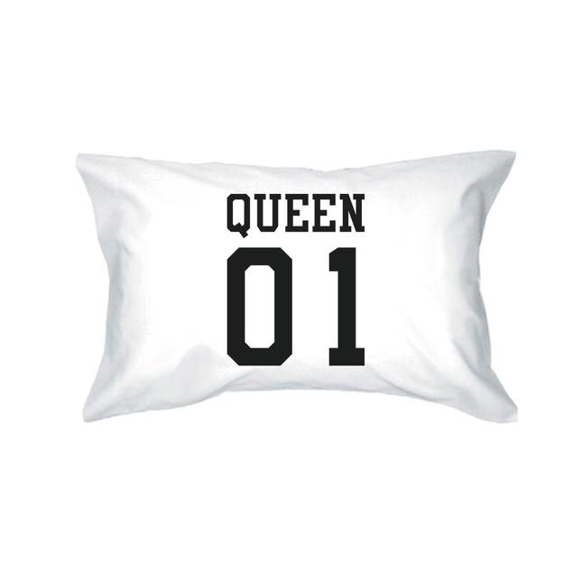 King 01 Queen 01 Couple Matching Pillowcase