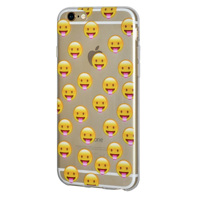 Soft Gel Premium Graphic Emoji TPU Skin Case for iPhone 7 Plus - Tongue Out