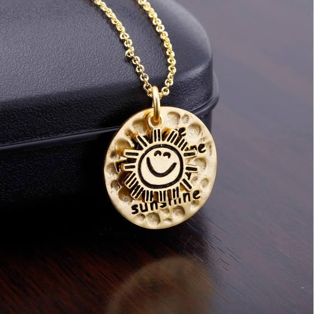 Yellow Gold Plated Inspirational Necklace