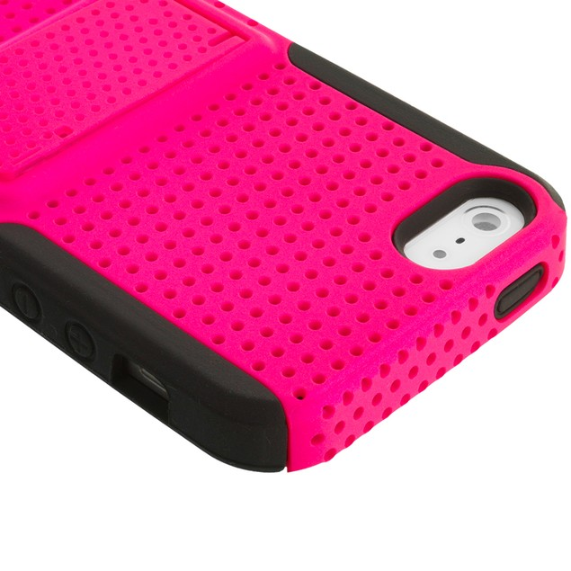 Apple iPhone 5 Hybrid Mesh Case Cover with Stand