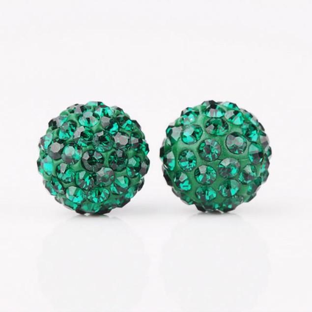 Vivid Vibrant Austrian Stone Stud Earrings