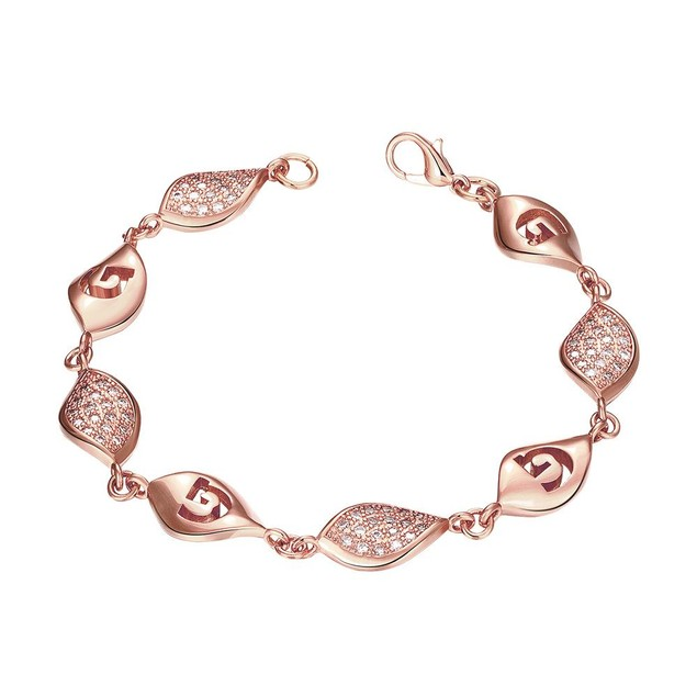 Rose Gold Plated European Intertwined Matrix Bracelet