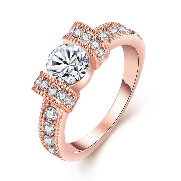 Rose Gold-Plated Italian-Cut Eternity Ring