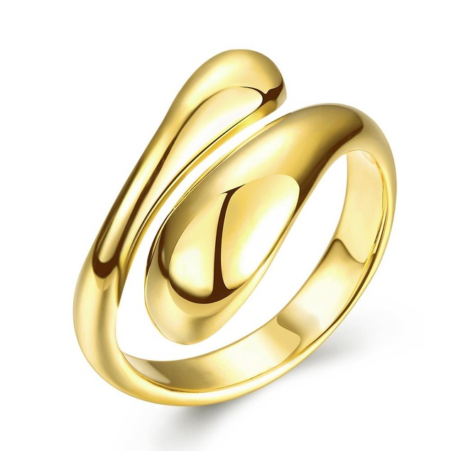 Gold Plated Matrix Cut Ring