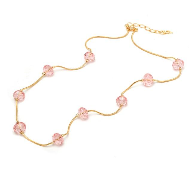 18K Gold and Pink Crystal Bracelet