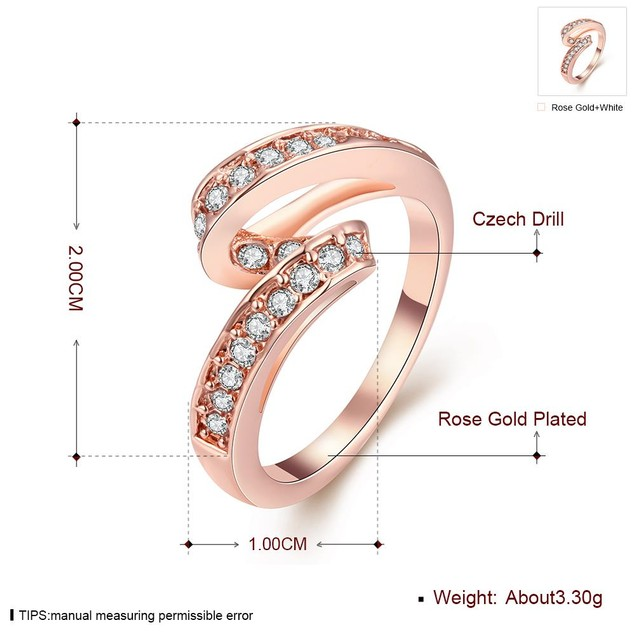 Rose Gold Plated Swirl Ring