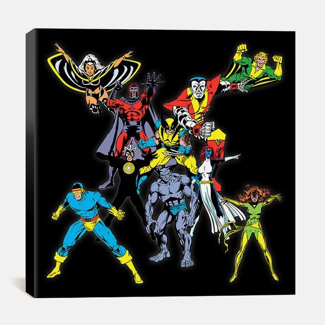 Marvel Comics X-Men Lineup Logo Print