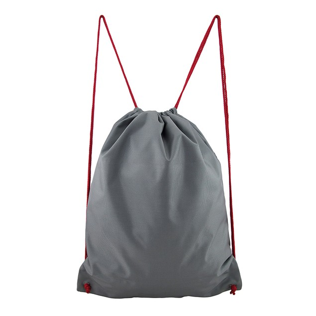 Mean Gray Shark Nylon Drawstring Backpack Boys Backpacks